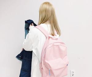 girl, kfashion, and pink image