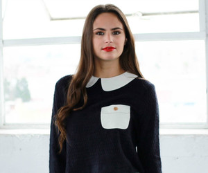 crop, peter pan collar, and pocket shirt image