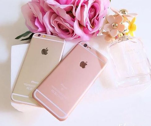 iphone, gold, and pink image