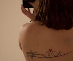 back tattoo, love birds, and tattoo image