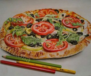 drawing, food, and painting image