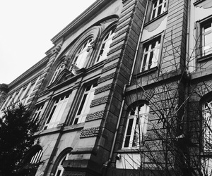 black, building, and white image