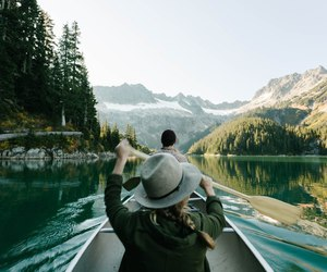 adventure, water, and couple image