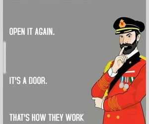 life, door, and funny image