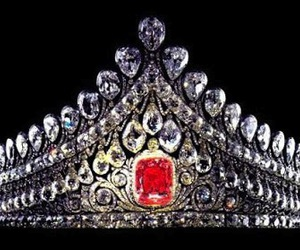 crown, ruby, and diamonds image