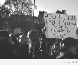 hogwarts, harry potter, and black and white image