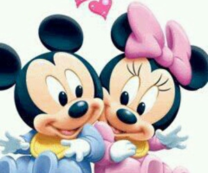 minnie, mickey, and love image