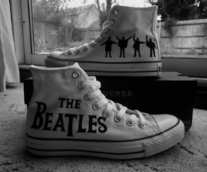 the beatles, converse, and beatles image