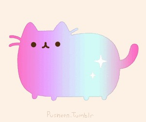 pusheen, cat, and galaxy image