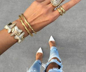 fashion, girl, and bracelet image