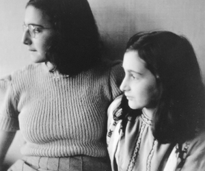anne frank, margot frank, and sisters image