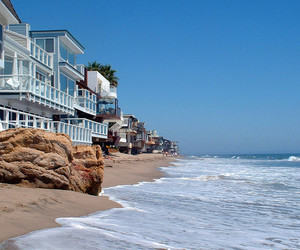 beach, malibu, and house image