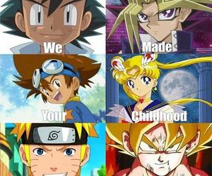 anime, sailor moon, and goku image