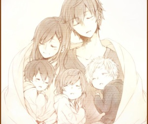 anime, cute, and family image