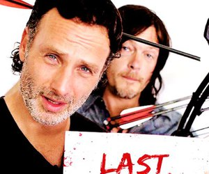 couple, andrew lincoln, and rick grimes image