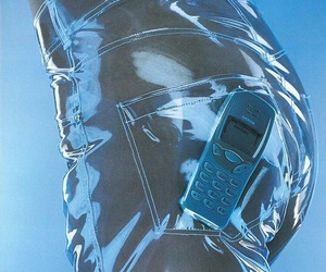 aesthetic, blue, and nokia image