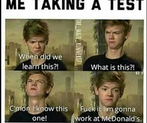 funny, test, and school image