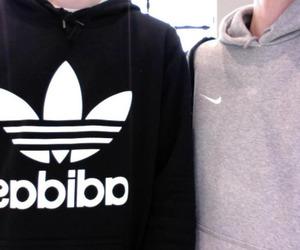 adidas, nike, and grunge image