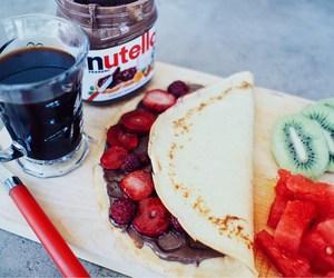 breakfast, fruit, and strawberries image