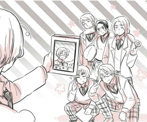 hetalia, anime, and selfie image