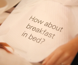bed, breakfast, and lovely image