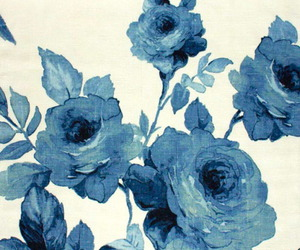 flower, pattern, and blue roses image