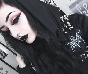 girls, makeup, and septum image