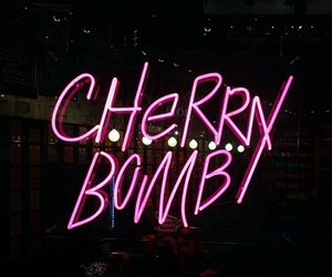 pink, neon, and cherry bomb image