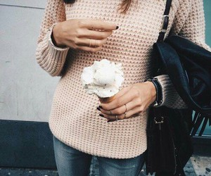 girl, jeans, and jumper image
