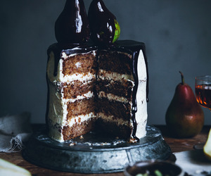 cake and pear image