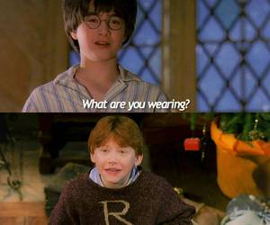 harry potter, philosophers stone, and ron weasley image