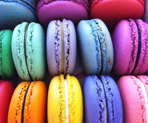 macaroons, food, and colors image