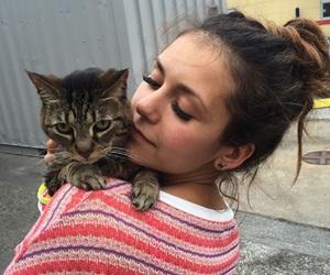 Nina Dobrev, cat, and tvd image