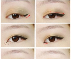 make up, makeup, and tutorial image