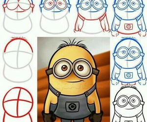 minions, draw, and diy image