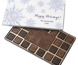 blue, chocolate, and christmas image