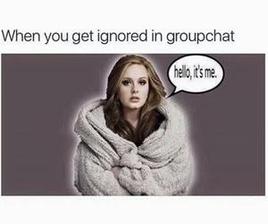 Adele, funny, and hello image