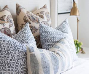 bed, home, and pillows image
