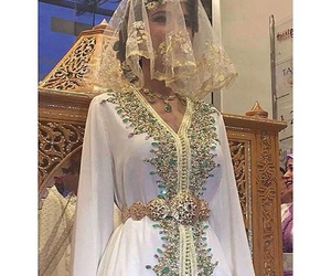 morocco, wedding, and caftan image