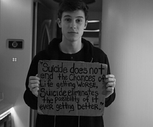 shawn mendes, suicide, and shawn image