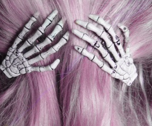 hair, pastel goth, and pink image