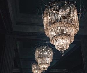 light, chandelier, and luxury image