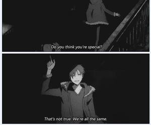 anime, durarara, and quote image