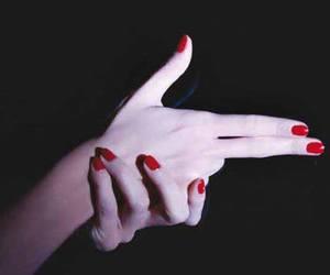 gun, nails, and red image
