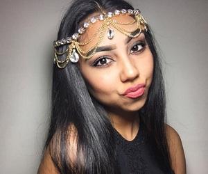 arabic, black hair, and diamonds image