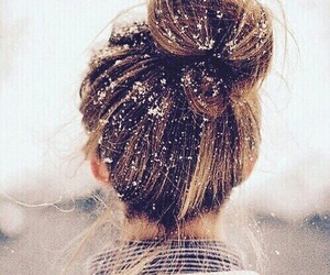 hair, snow, and winter image