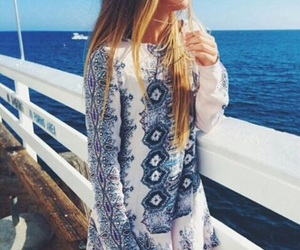 dress, fashion, and ocean image