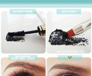 makeup, mascara, and diy image
