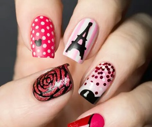 lady, nails, and woman image
