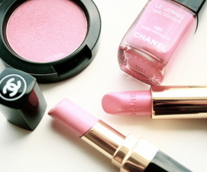 pink, chanel, and makeup image